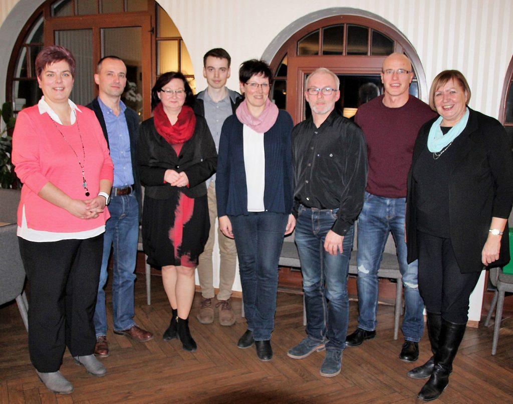 Foto vom neuen Vorstand des Stadtverbandes